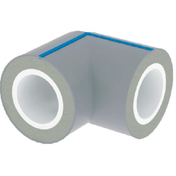 CODO 90° EN PVC CON RECUBRIMIENTO PEAD UV